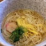 米助 - 料理写真:昼御膳に最初に出てくるにゅう麺、いいお出汁いい麺で、いきなりガツンです!(2017.1.16)