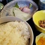 魚の蔵 - ご飯大盛と刺身