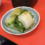 陽華楼飯店 - 2人分の漬物、柚子が絞って有りました
