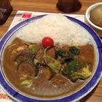 エチオピアカリーキッチン 御茶ノ水ソラシティ店 - 来ました来ました、辛さレベル5の野菜カレー