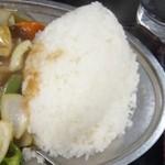 キッチンあべ - 酢豚ランチ(大盛・ライス)