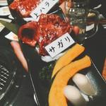 一龍 - ハラミ食べ比べ