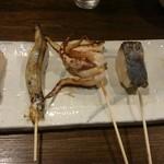 どんど晴 - お魚の串焼きです