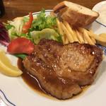 洋食屋 - 鹿児島黒豚ロースのトンテキ