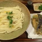 谷や 和 - 釜玉うどん(中盛り) + 野菜天