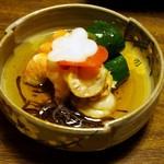 かき豊 - 酢の物(海老、帆立、胡瓜)