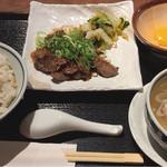仙台牛タン 松阪鶏焼肉 福島西屋 - タレ漬け牛タン焼き定食  1300円