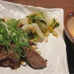 仙台牛タン 松阪鶏焼肉 福島西屋 - タレ漬け牛タン焼き定食