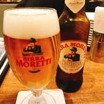 マカロニ - なんだろう?イタリアのビールなのかな?結構旨い♪