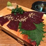 肉餃子専門店 THE GYO - 特撰馬刺しの希少レバ刺し(1058円税込)