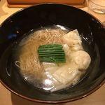 饗 くろ喜 - 新小麦麺スタンプラリー「道産の雲呑そば」1000円