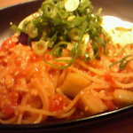 こなな 阪急三番街店 - 鶏そぼろと京ナスの味噌トマト和パスタ