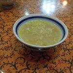 パンジャブレストラン - 野菜とコーンのスープ