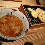 喜久や 恵比寿店 - 天ぷら(ズッキーニ&れんこん)