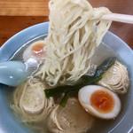 めん屋 ききょう - 麺もゆばもスープに良く合います(≧∀≦)