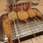八五郎 - おすすめ串5本セット590円+税