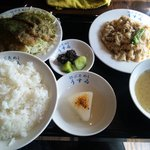 ぶためし うすゐ - 焼き・煮2種盛り定食大980円