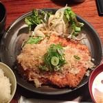 播鳥 - チキンカツ定食-おろしポン酢800円