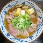丸亀製麺 - 鴨ねぎうどんのアップ