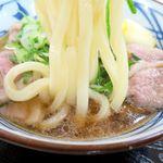 丸亀製麺 - 鴨ねぎうどんの麺