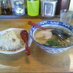 らーめん たつ - 炒飯&梅塩ラーメン