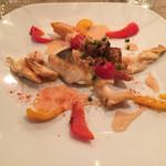 61357829 - 真鯛のポワレと白つぶ貝プティサザエのグサージュソース焼き
