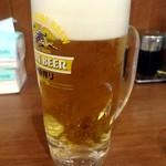 横浜家系ラーメン 町田商店 - 生ビール