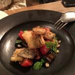 organ - 2017.01.14 テーブルで完成する「穴子スモークのフリットと茄子、トマト、葉野菜のサラダ」②