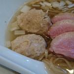 61361305 - チャオ会コラボ鶏清湯 肉団子 鴨チャー