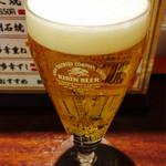たこ家 道頓堀くくる - ミニグラスビール380円