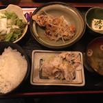 61363626 - 若鶏の唐揚げ&豚しゃぶ セット(850円)
