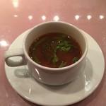 ミセスバーグ キンシチョウ - 鱈と春菊のチリトマトスープ