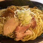 61365638 - 鶏豚魚つけソバ(2種の麺) ¥850 の麺