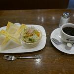 コーヒーハウス マキ - 玉子サンドセット(850円)