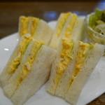 コーヒーハウス マキ - 玉子サンドup