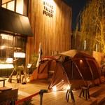 スプリングバレーブルワリー東京 - 冬季限定でテラスにテント登場