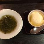 61370978 - 自家製豆腐、もずく酢