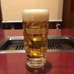 焼肉酒房 カナタ - 生ビール