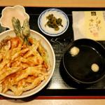 白えび亭 - 「白えび天丼+白えびお刺身」(1980円)