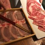 61378800 - お肉(豚と牛)