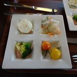 mokumokuとまとcafe - ランチのプレート