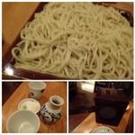 出谷右衛門 - ◆もりそば(大・950円)・・新蕎麦でした。全て主人が頂いたのですが、噛みごたえもよく蕎麦の香りもいいとか。