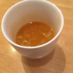 マチャプチャレ - スープ。量は少ないけど豆が入ったしっかりしたもの。