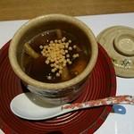 温石 - 白子の茶碗蒸し なめ茸の餡掛け