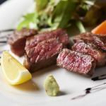 一の糸 - 料理写真:山形牛のサーロインステーキ