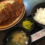 61398027 - ひれとんかつ定食(ダブルサイズ)(¥1560)