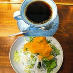 Coffee fukubako - セットのサラダとコーヒー