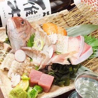 明石の新鮮な海鮮を使った和食料理