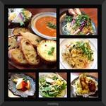 DEAR FROM - プレート、ツナと水菜のペペロンチーノ、3種キノコのクリームリゾット、ニューヨークチーズケーキ、台湾かき氷