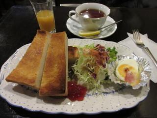 カプチーノ詩季 - モーニング バタートーストセット 620円 (2016.12)